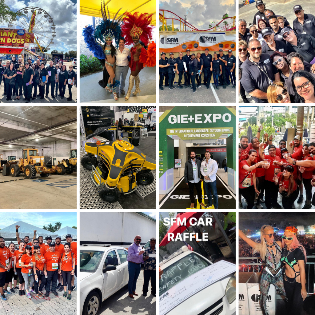 Multiple images of events throughout the 2019 year