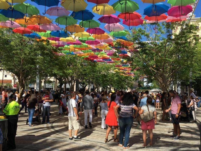 Image is of the Umbrella Sky Project.