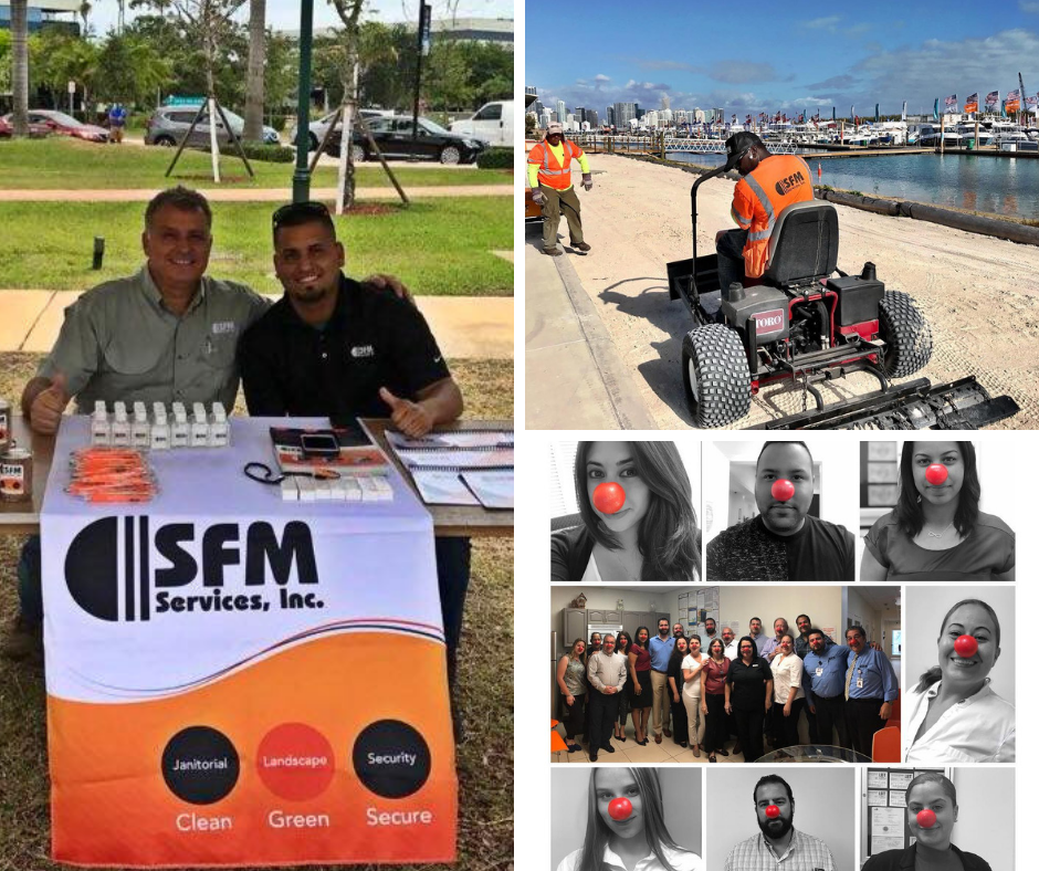 Image is of events that occurred during Feb. to Apr. 2018 and show SFM's employees hard at work.