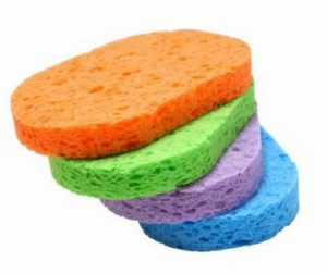 pack of multicolored sponges