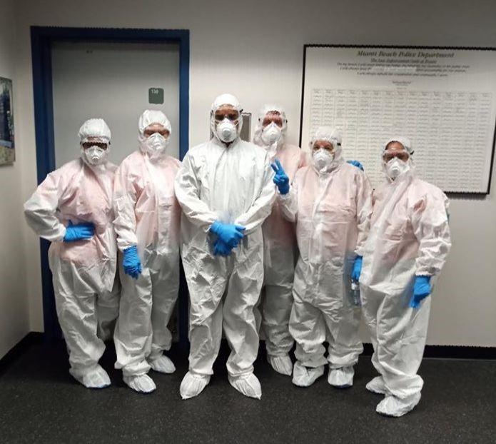 SFM Team in sanitation gear